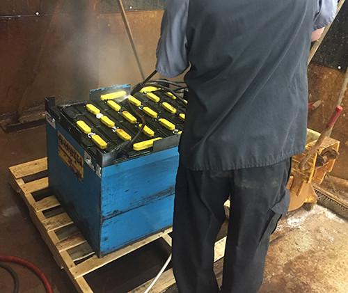 battery cleaning
